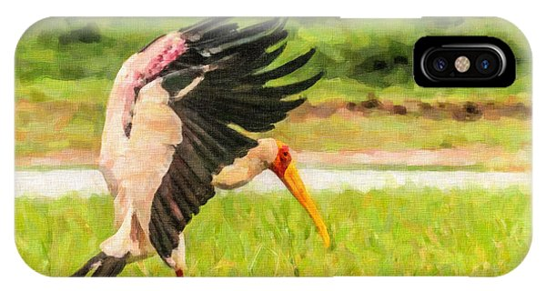 Yellow-billed Stork IPhone Case
