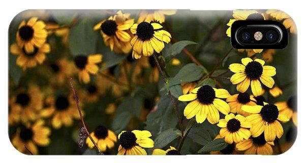 Yellow Black Sunflowers IPhone Case