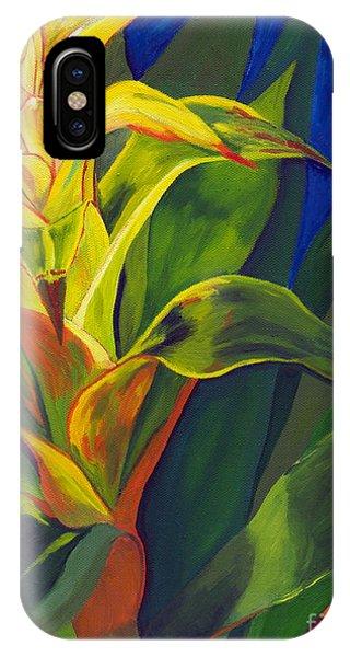 Yellow Bromeliad IPhone Case