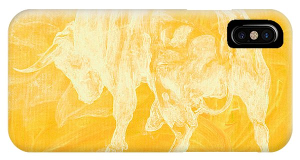 Yellow Bull Negative IPhone Case