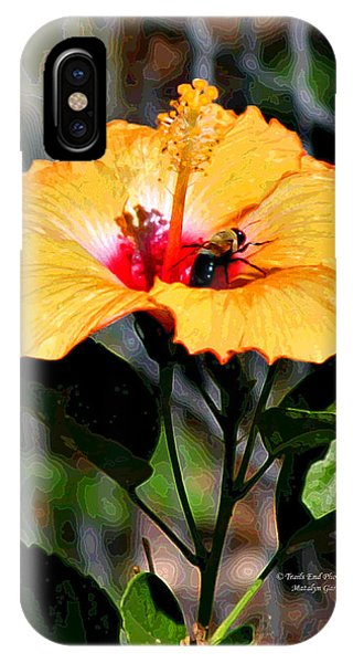 Yellow Bumble Bee Flower IPhone Case