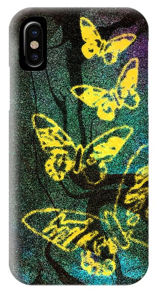 Yellow Butterflies IPhone Case