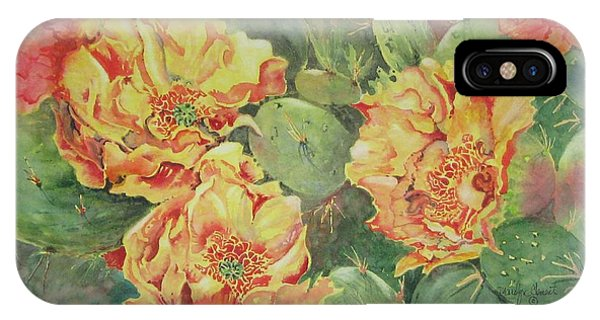 Yellow Cactus Blooms IPhone Case