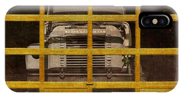 Trucking iPhone Case - Yellow Cage by Jeff  Gettis