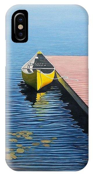 Yellow Canoe IPhone Case