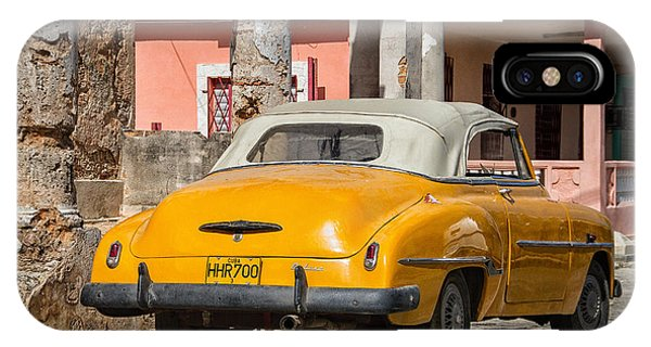 Yellow Car In Cuba IPhone Case