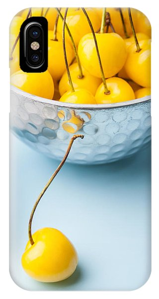Yellow Cherries 1 Phone Case by Jennifer Blume