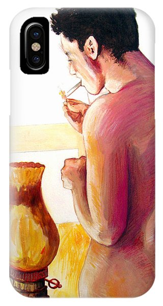 Yellow Cigarette  IPhone Case