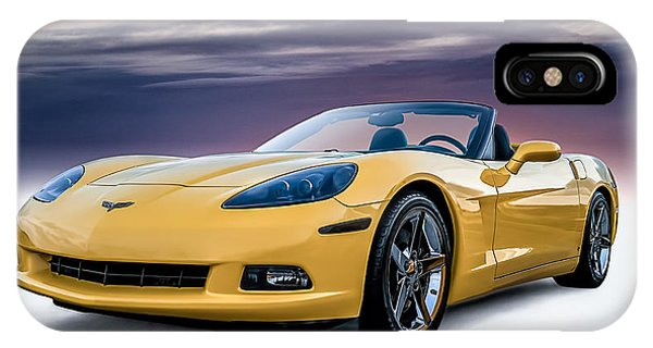 Yellow Corvette Convertible IPhone Case