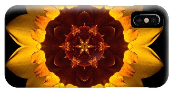 Yellow Daffodil I Flower Mandala IPhone Case