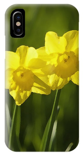 IPhone Case featuring the photograph Yellow Daffodils by Sherri Meyer
