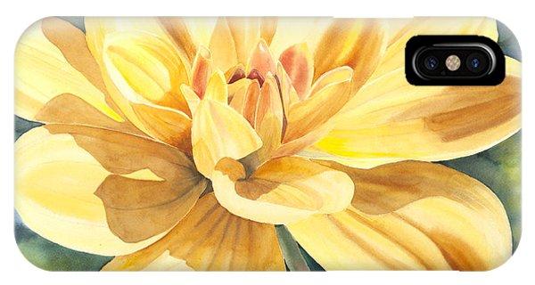 Yellow Dahlia IPhone Case
