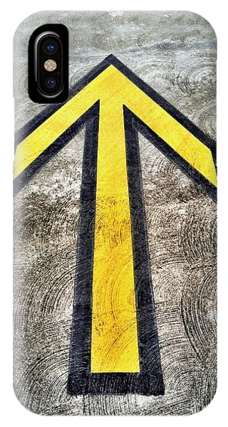 Yellow Directional Arrow On Pavement IPhone Case