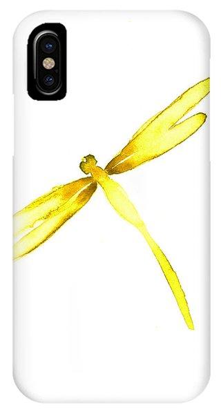 Yellow iPhone Case - Yellow Dragonfly by Mariusz Szmerdt