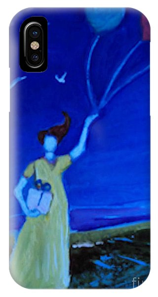 Yellow Dress Three Balloons IPhone Case