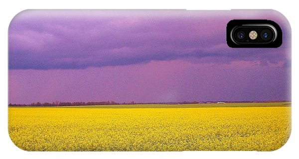 Yellow Field Purple Sky IPhone Case