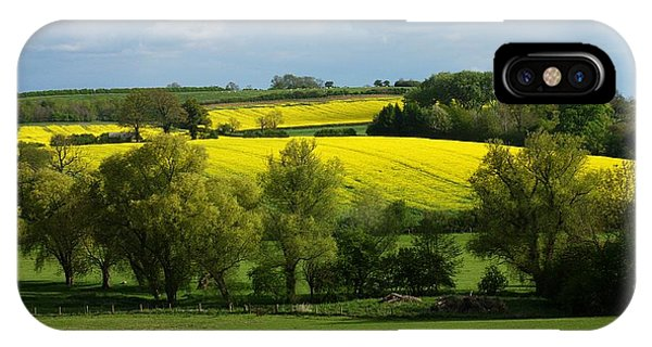 IPhone Case featuring the photograph Yellow Fields In The Sun by Jeremy Hayden