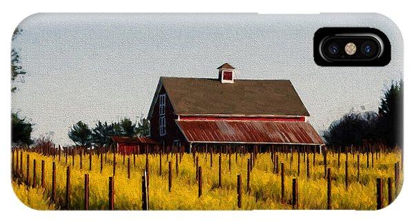 Mustard iPhone Case - Yellow Fields by John K Woodruff