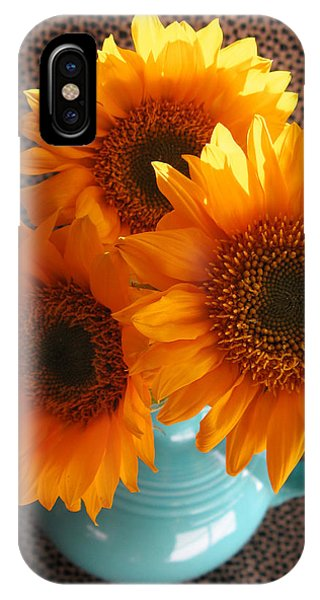 Yellow Flowers In Fiesta Ware IPhone Case