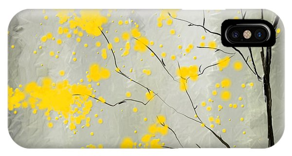 Yellow Foliage Impressionist IPhone Case
