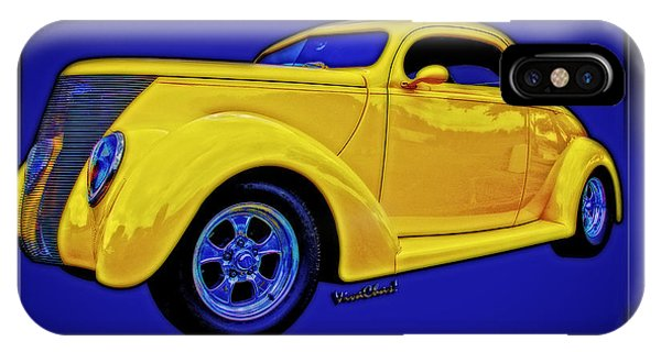 Yellow Ford Coupe Poster Style IPhone Case