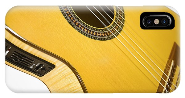 Yellow Guitar IPhone Case