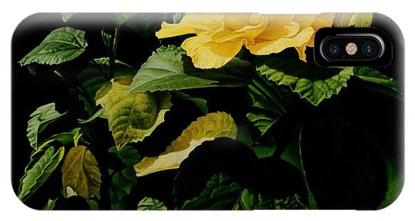 Yellow Hibiscus Phone Case by Gary  Hernandez