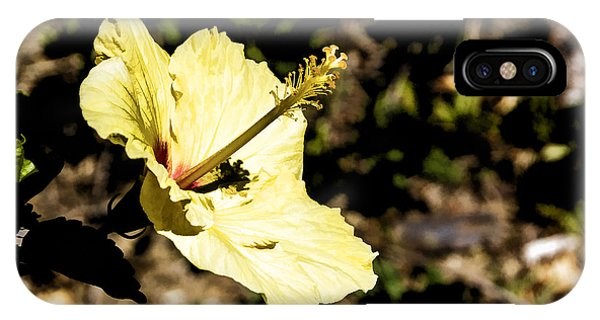 IPhone Case featuring the digital art Yellow Hibiscus by Photographic Art by Russel Ray Photos