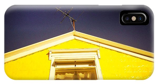 House iPhone Case - Yellow House In Akureyri Iceland by Matthias Hauser