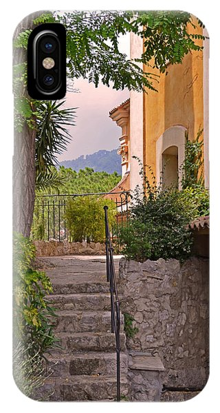 Yellow House In Eze France IPhone Case