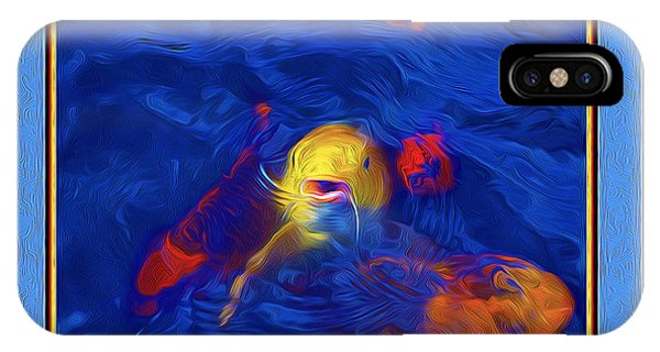 Yellow Koi At The National Arboretum IPhone Case