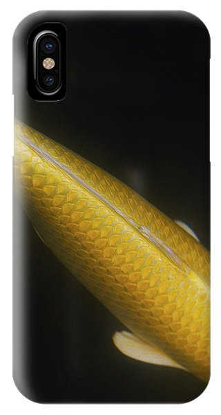 Yellow Koi Tail Up Vertical IPhone Case