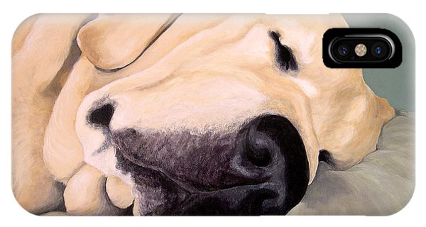 Yellow Lab - A Head Pillow Is Nice IPhone Case