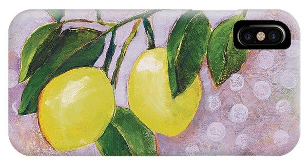 Yellow Lemons On Purple Orchid IPhone Case