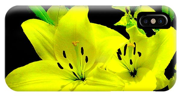 Yellow Lilies IPhone Case