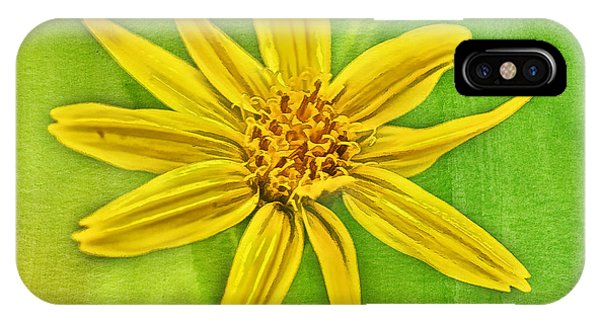 Yellow Mountain Bloom IPhone Case