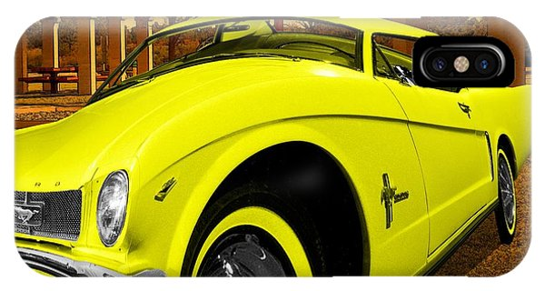 Yellow Mustang IPhone Case