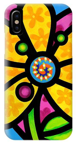 Yellow Pinwheel Daisy IPhone Case