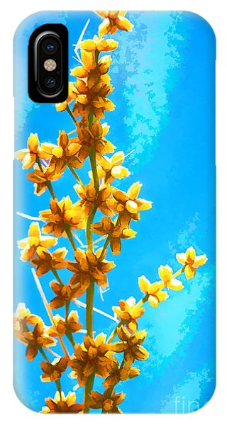 IPhone Case featuring the photograph Yellow Plant by Yew Kwang