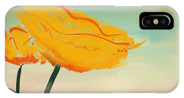 Poppies iPhone Case - Yellow Poppies by Lourry Legarde