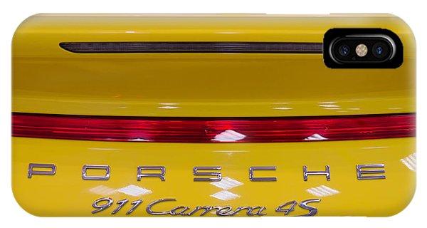 yellow Porsche IPhone Case