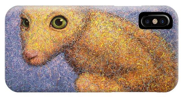 Rabbit iPhone Case - Yellow Rabbit by James W Johnson