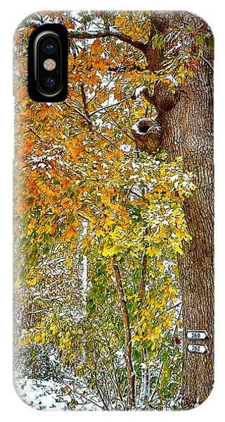 Yellow Ribbon Of Leaves IPhone Case