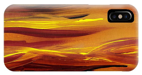Yellow River Flow Abstract IPhone Case