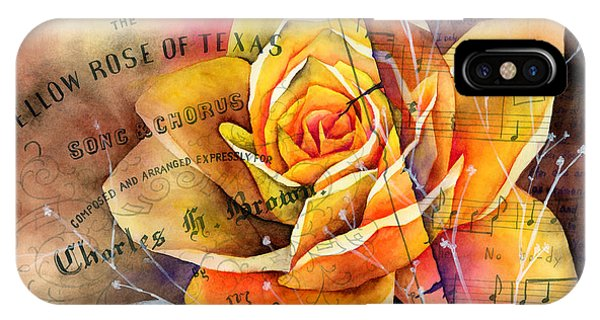 Bloom iPhone Case - Yellow Rose Of Texas by Hailey E Herrera