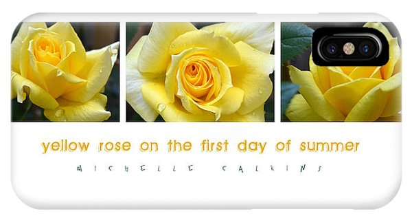 Yellow Rose On The First Day Of Summer IPhone Case