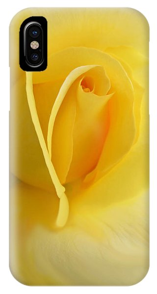 Yellow Rose Portrait IPhone Case