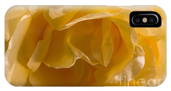 Yellow Rose Ruffles IPhone Case