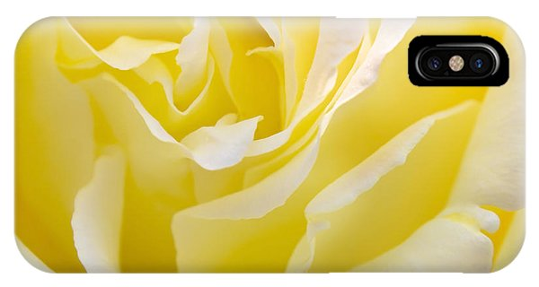 Floral iPhone X Case - Yellow Rose by Svetlana Sewell