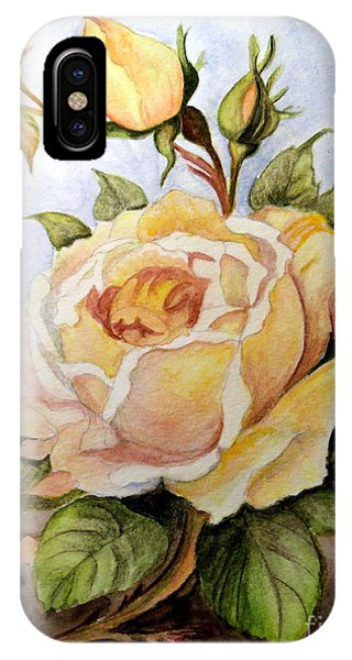Yellow Roses In The Garden IPhone Case